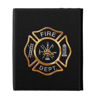 Fire Department Gold Badge iPad Folio Covers