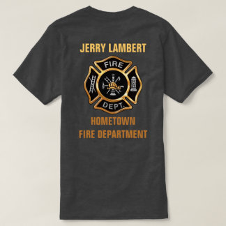 Fire Department Gold Badge Custom Tee Shirt