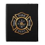 Fire Department Gold Badge iPad Folio Case