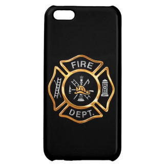 Fire Department Gold Badge Cover For iPhone 5C