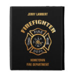 Fire Department Gold Badge Name Template iPad Cases