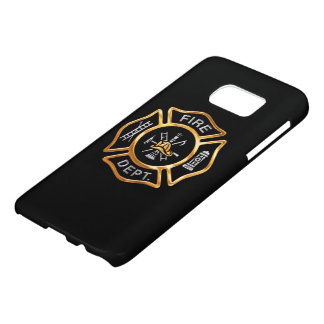 Fire Department Gold Badge Samsung Galaxy S7 Case