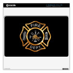 Fire Department Gold Badge Skin For MacBook Air
