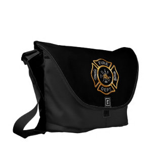 Fire Department Gold Courier Bag