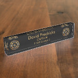 Fire Department Gold Desk Name Plate at Zazzle
