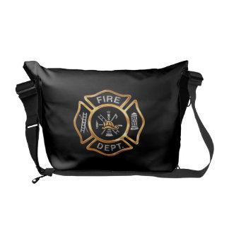 Fire Department Gold Messenger Bag