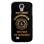 Fire Department Gold Name Template Samsung Galaxy S4 Cases