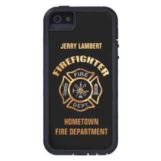 Fire Department Gold Name Template Case For iPhone SE/5/5s