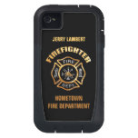 Fire Department Gold Name Template iPhone4 Case