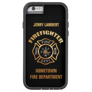 Fire Department Gold Name Template iPhone 6 Case