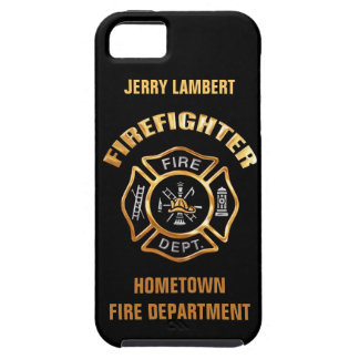 Fire Department Gold Name Template iPhone SE/5/5s Case