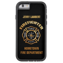 Fire Department Gold Name Template Tough Xtreme iPhone 6 Case
