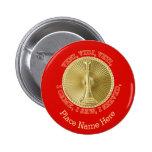 Fire Department Lieutenant Medallion 2 Inch Round Button
