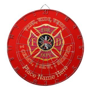 Fire Department Maltese Cross Custom VVV  Shield Dart Board