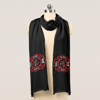 Fire Department Red Badge Scarf