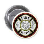 Fire Department Round Badge 2 Inch Round Button