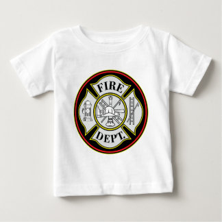 Fire Department Round Badge Baby T-Shirt