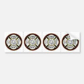 Fire Department Round Badge Bumper Sticker