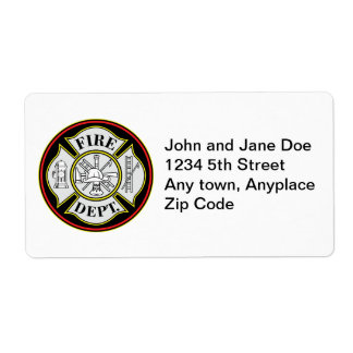 Fire Department Round Badge Label