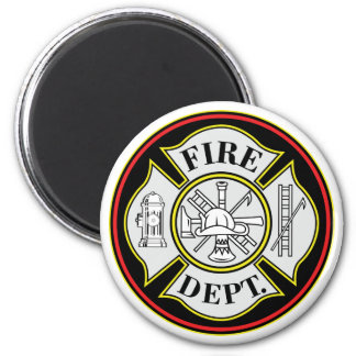 Fire Department Round Badge Magnet