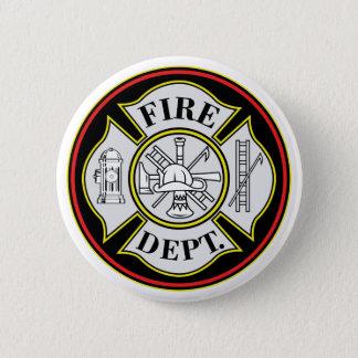 Fire Department Round Badge Pinback Button
