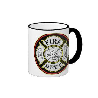 Fire Department Round Badge Ringer Mug