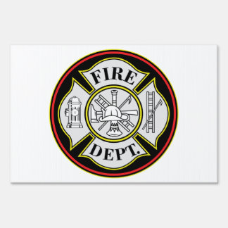 Fire Department Round Badge Signs