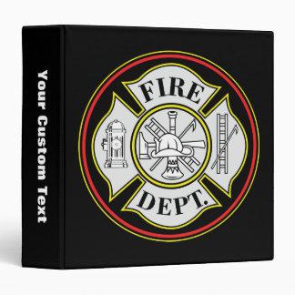 Fire Department Round Badge Vinyl Binders