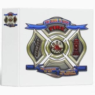 Fire Department Shield 3 Ring Binder