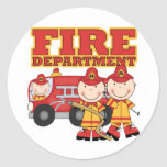 Fire Department Tshirts and Gifts Classic Round Sticker