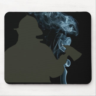 fire department with smoke shadow mouse pad
