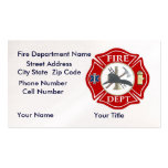 Fire Dept Bussiness Cards with Red Maltese Cross Double-Sided Standard Business Cards (Pack Of 100)