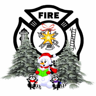 Fire Dept Christmas Scene Cutout