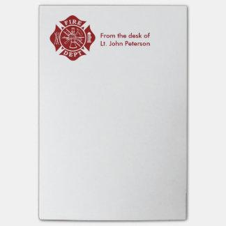 Fire Dept Custom Post-it® Notes 4 x 6