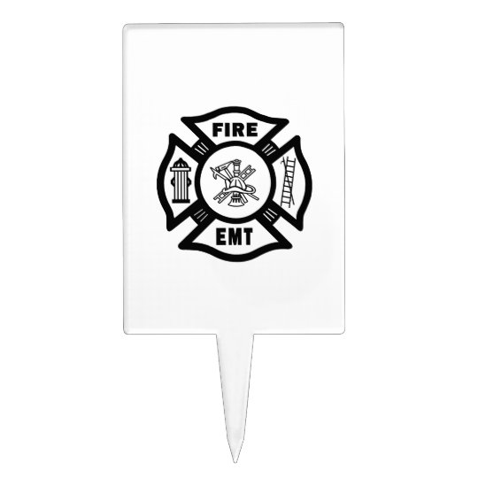 Fire Dept EMT Cake Topper