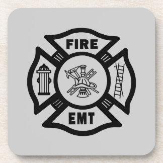 Fire Dept EMT Drink Coaster