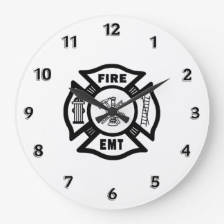 Fire Dept EMT Large Clock