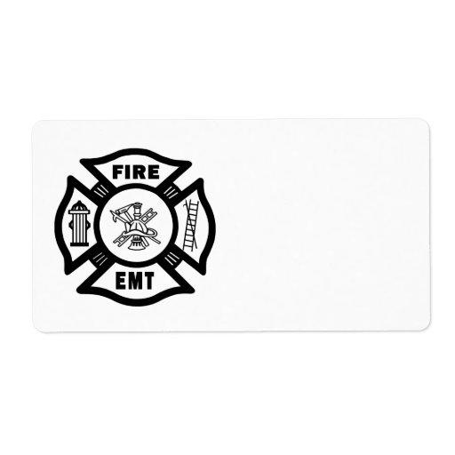Fire Dept EMT Shipping Label