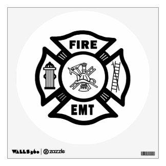 Fire Dept EMT Wall Sticker