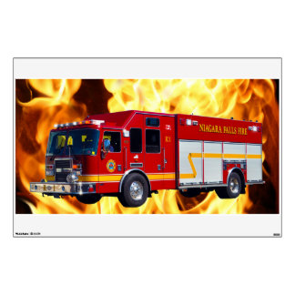 fire truck wall decals amp wall stickers zazzle fire truck wall decal firemen vinyl sticker home interior wall