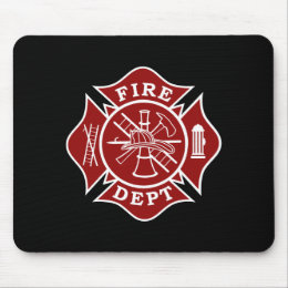 Fire Dept / Firefighter Maltese Cross Mousepad