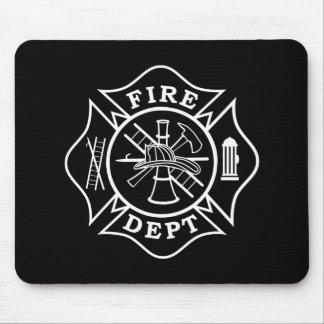 Fire Dept / Firefighter Maltese Cross Mousepad
