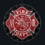 "Fire Dept / Firefighter Metal Cage Dartboard<br><div class=""desc"">Fire Dept / Firefighter Metal Cage Dartboard makes an idea gift for any firefighter who likes to darts or even just for home and office decoration.</div>"