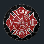 """Fire Dept / Firefighter Metal Cage Dartboard<br><div class=""""desc"""">Fire Dept / Firefighter Metal Cage Dartboard makes an idea gift for any firefighter who likes to darts or even just for home and office decoration.</div>"""