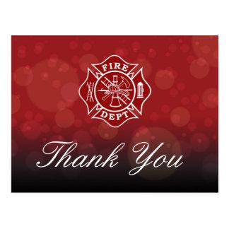 Fire Dept - Firefighter Thank You Postcard