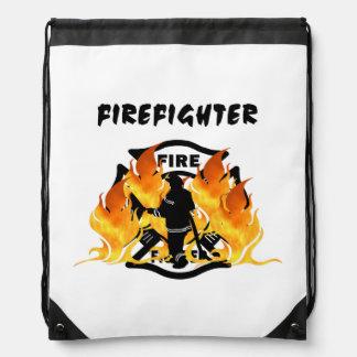 Fire Dept Flames Cinch Bag
