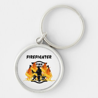 Fire Dept Flames Keychains