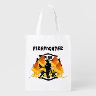 Fire Dept Flames Market Totes