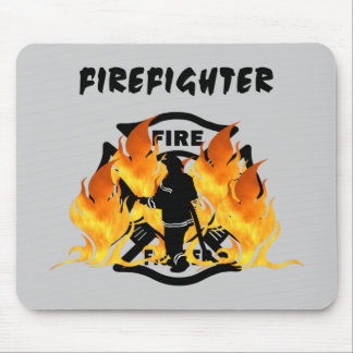 Fire Dept Flames Mouse Pad
