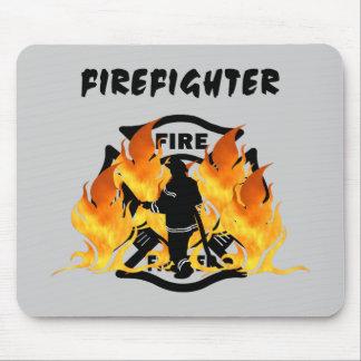 Fire Dept Flames Mouse Pad